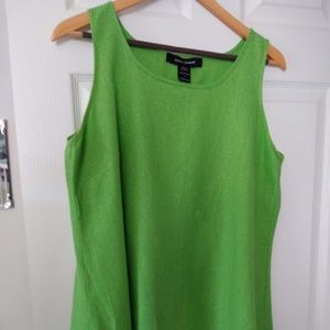 Ashley Stewart Lime Green Sleeves Top